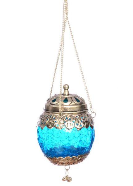 Hängender Teelicht-Halter orientalischer Teelicht-Lampion Blau