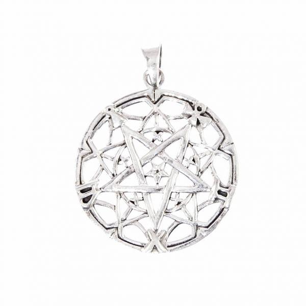Gestürztes Pentagramm Silberanhänger Symbol des Bösen Anhänger