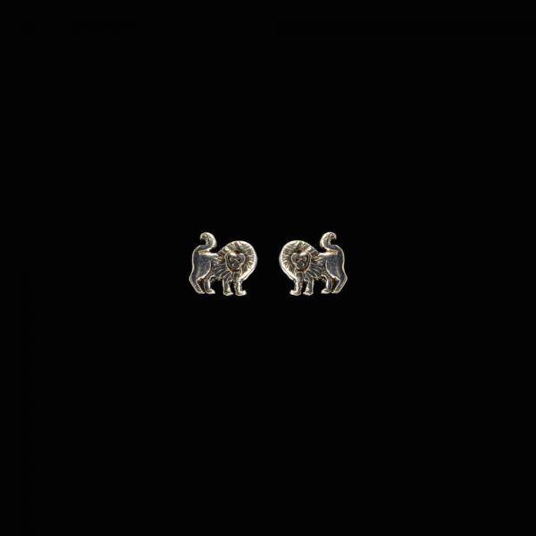 Löwe Sternzeichen Silberohrstecker