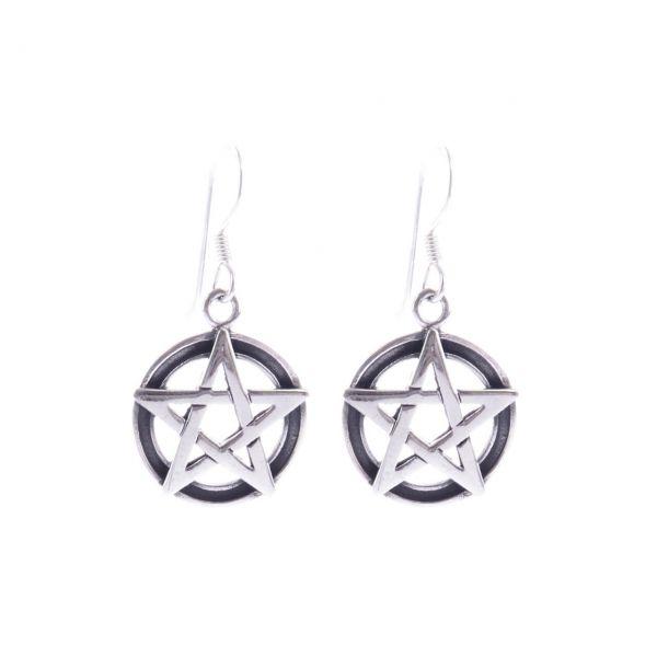Pentagramm Silber Ohrringe Drudenfuss Silberschmuck