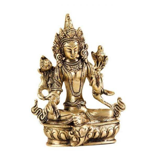 Grüne Tara Messing Statue weiblicher Buddha Figur