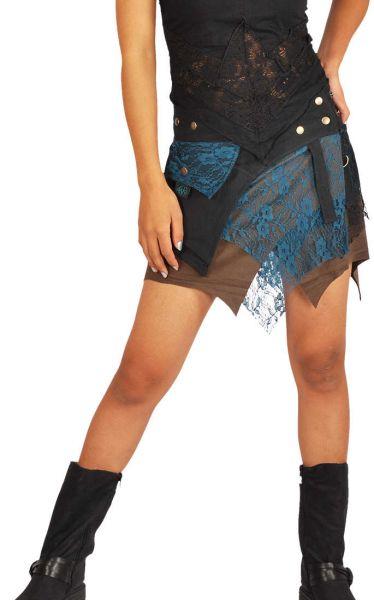 ANKI Wickelrock Zipfel Spitze Goa Style Röcke