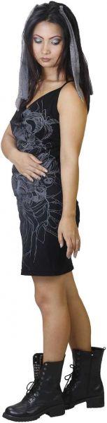 Anki Design Kleid Doro rückenfrei Messingring bedruckt