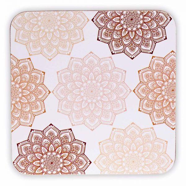 Set Mandala Design Untersetzer