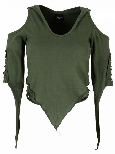 Anki Zipfel-Shirt Razor-Cut lange Kapuze