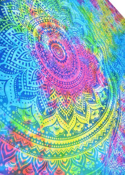 psychedelisches mandala Wandtuch goa Tuch uv aktiv