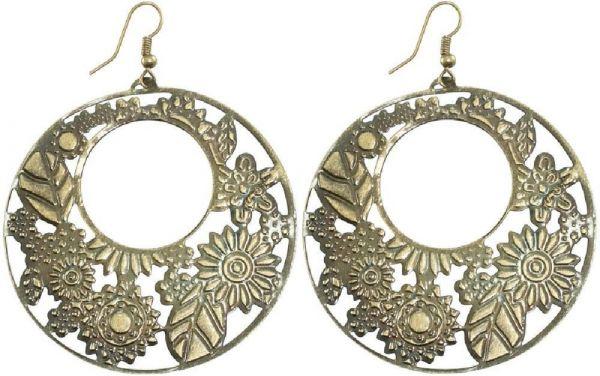 Ohrringpaar, Bläter- u. Blütenmotiv