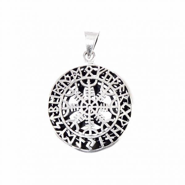 Zweiseiten Silberanhänger Runen keltischer KnotenWikinger Kelten