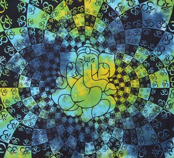 Ganesha Batik Wandtuch große Tagesdecke