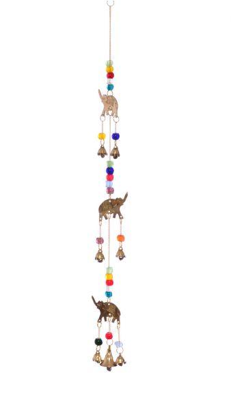 Mobile, Windspiel Elefant mit Glasperlen und Glöckchen
