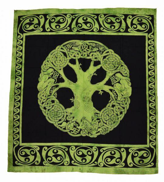 YGGDRASSIL keltische Tagesdecke, Wandbehang
