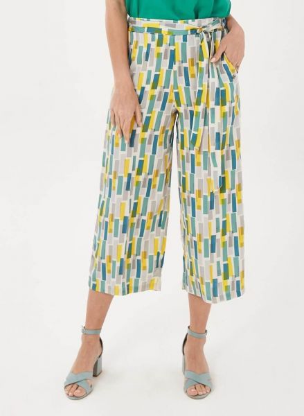 Organication 7/8-Hose aus Tencel™ mit Allover-Print Fairtrade