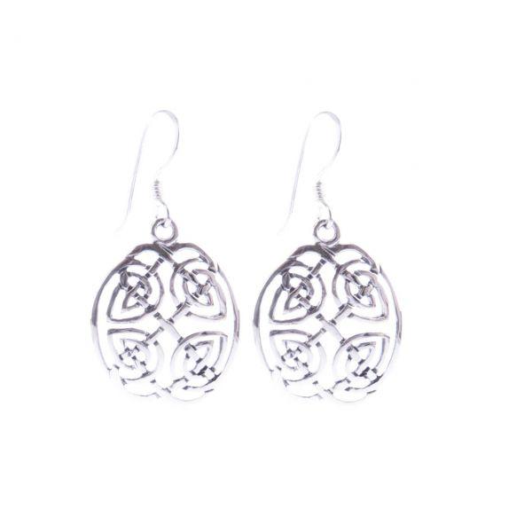 Keltisches Knotenmuster Silber Ohrringe Silberschmuck