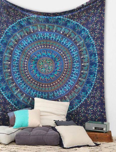 Indisches Mandala Tuch, Wandtuch
