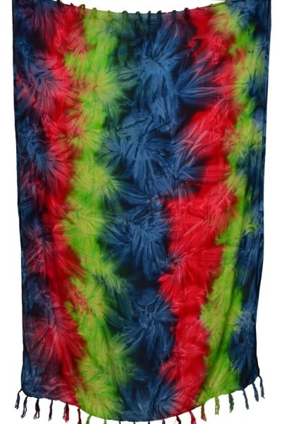 Batik Sarong Pareo Blau Gruen Rot