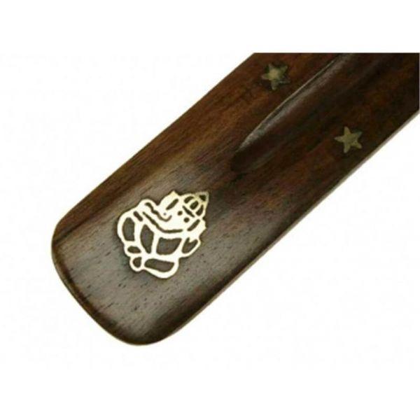 Räucherstäbchenhalter Ganesha Messing Holz