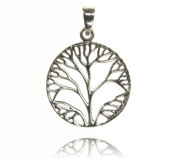 Runder Baum Silberanhänger